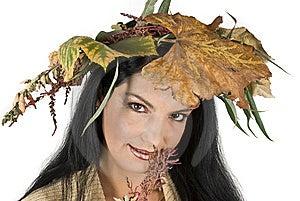 Miss Autumn Woman Stock Photo - Image: 6839390