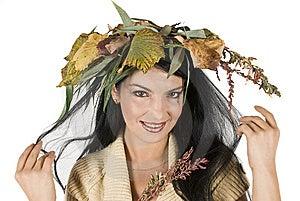 Smiling Miss Autumn Stock Photos - Image: 6839393