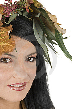Closeup Of Autumn Face Female Royalty Free Stock Images - Image: 6839399