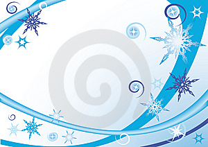 Abstract Waves And Snowflakes Stock Photography - Image: 6839742