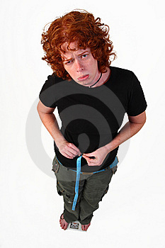 RedHead Woman On Diet Stock Images - Image: 6839924