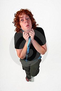 Banta Redheadkvinnan Royaltyfri Fotografi - Bild: 6839987