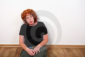 RedHead Woman At Home Royalty Free Stock Photos - Image: 6840718