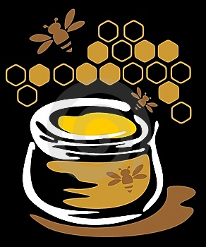 Honey And Bees Royalty Free Stock Images - Image: 6840849