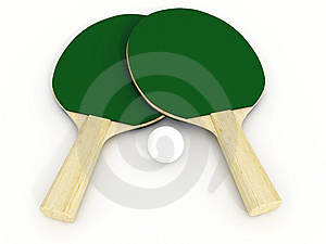 Ping Pong Racket Royalty Free Stock Photos - Image: 6841478