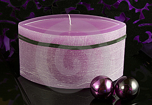 Violet Advent Candle Stock Images - Image: 6841774