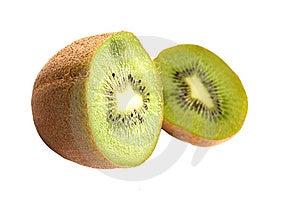 Sliced Kiwi Isolated On White Royalty Free Stock Photography - Image: 6845887