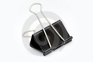 Big Black Paper Clip Royalty Free Stock Photography - Image: 6846317