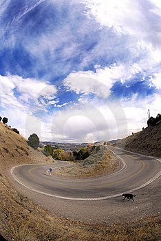 Curve In Road Royalty Free Stock Photography - Image: 6847517