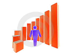 3D Business Statistic Stock Photos - Image: 6849093