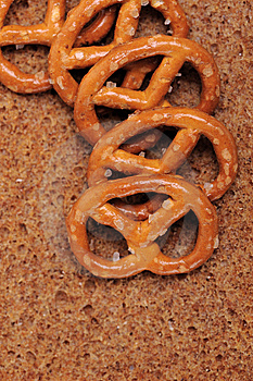 Small Salted Pretzels Stock Photography - Image: 6849112