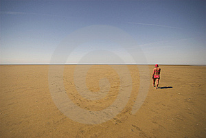 Walking On Sand Stock Image - Image: 6850431