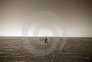 Walking To The Island Stock Image - Image: 6850551
