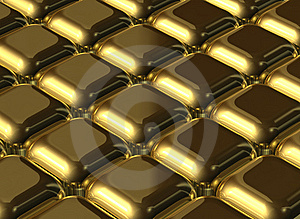 Gold Cubes Stock Images - Image: 6851974