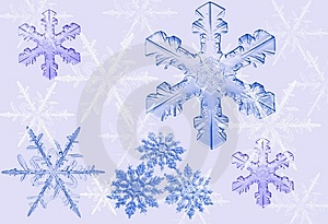 Blue Snow Stars Stock Photos - Image: 6852183