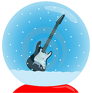 Crystal Ball With Guitar Stock Photography - Image: 6853692