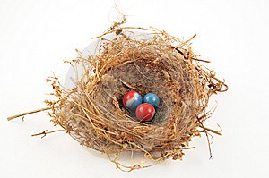 Marbles In Nest Royalty Free Stock Image - Image: 6853986