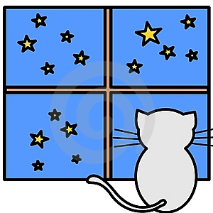 A Cat Watching Stars Stock Images - Image: 6854864