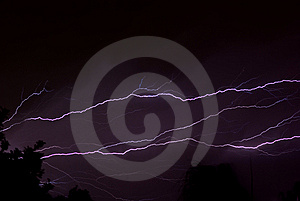 LIghtning Across The Sky Stock Image - Image: 6856791