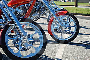 Choppers At The Starting Line Stock Images - Image: 6859404