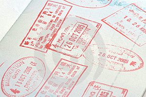 Passport Stamps Royalty Free Stock Images - Image: 6860079