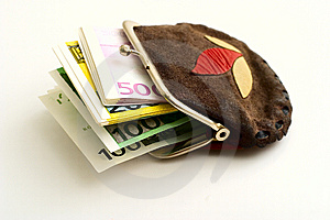 Purse Full Of Euros Royalty Free Stock Images - Image: 6860289
