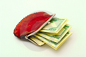 Purse Full Of Dollars Royalty Free Stock Images - Image: 6860319