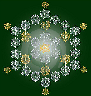Contemporary Snowflake Christmas Card Royalty Free Stock Photos - Image: 6860948