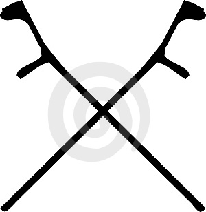 Crutches Crossed Royalty Free Stock Image - Image: 6862266