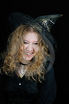 Cute Young Smiling Halloween Witch Royalty Free Stock Images - Image: 6862949