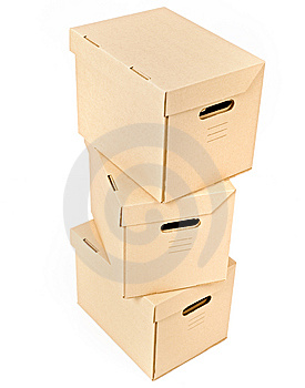 Pile of boxes Royalty Free Stock Image