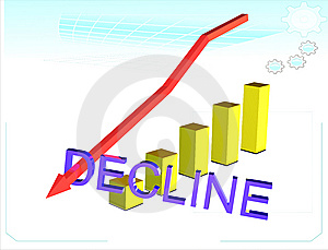 The Diagram Of Recession. Stock Photography - Image: 6865952