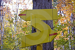 Three Signs In The Forest Royalty Free Stock Images - Image: 6866029