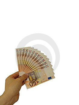 Fifty Euro Banknotes Stock Photography - Image: 6866212