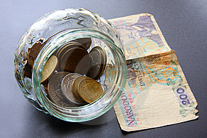 Money In Glass Jar Stock Photo - Image: 6866630