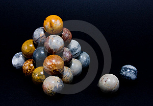 Interesting Spheres Arranged In A Pyramid Royalty Free Stock Photography - Image: 6870827