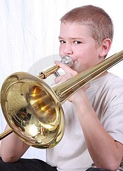 Trombonespeler 2 Royalty-vrije Stock Afbeelding - Afbeelding: 6872676