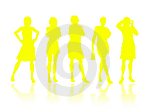 Businesswomen Silhouettes Royalty Free Stock Photography - Image: 6873477