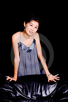Chinese Model In Skirt Royalty Free Stock Images - Image: 6873719