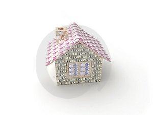 A Casa Feita De 100 Dólares Fotos de Stock - Imagem: 6881403
