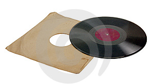 Ancient vinylic plate Royalty Free Stock Image