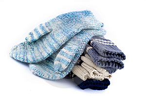 A Pack Of Woollen Mitt Stock Photo - Image: 6883090