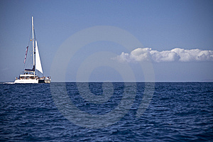 White Catamaran Stock Photography - Image: 6883722