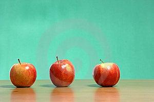 Apple On A Desk Stock Photos - Image: 6884953