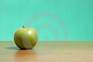 Apple On A Desk Stock Photo - Image: 6885010