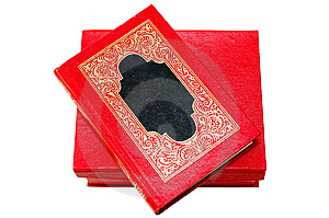 Red Cover Book With Golden Ornament In Red Box. Stock Photo - Image: 6886170