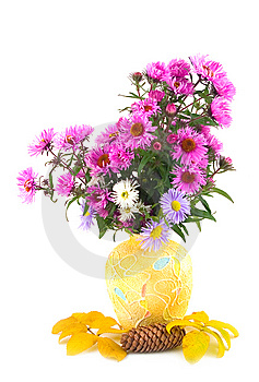 Autumn In Yellow Vase Royalty Free Stock Images - Image: 6886839