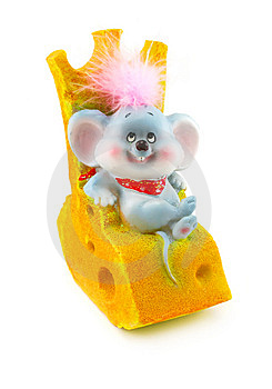 Toy Mouse And Cheese Royalty Free Stock Photography - Image: 6887077