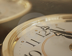 A Clock. Midnight Stock Photos - Image: 6887483