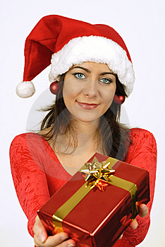 Giving Her Gift Stock Photo - Image: 6887890
